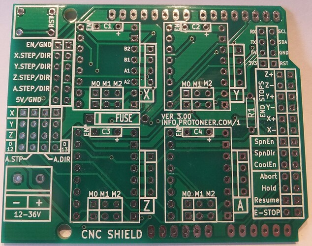 Arduino-CNC-Shield-V3-PCB-Front