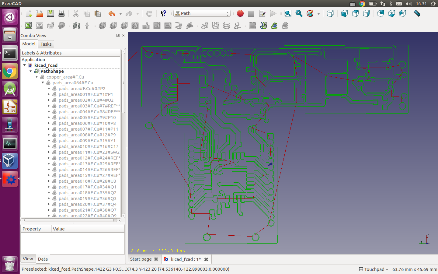 PCB for milling